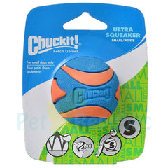 CHUCK IT Ultra Squeaker Ball Dog Toy Small - Pet Republic Jakarta