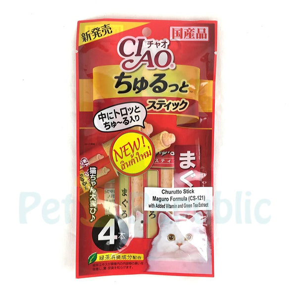 CIAO CS121 Churutto Stick Maguro Formula 4pcs - Pet Republic Jakarta