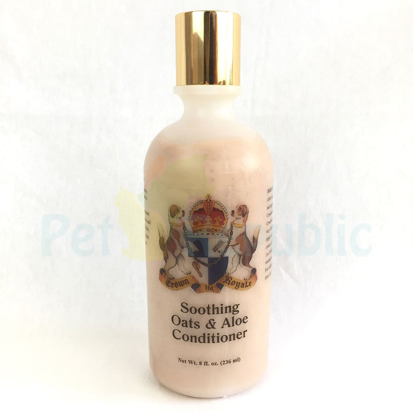 CROWNROYALE Soothing Oat & Aloe Conditioner 236ml - Pet Republic Jakarta