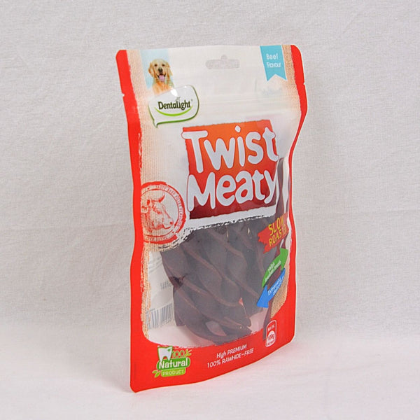 DENTALIGHT Twist Meaty Beef Flavour 100GR Dog Dental Chew DENTALIGHT