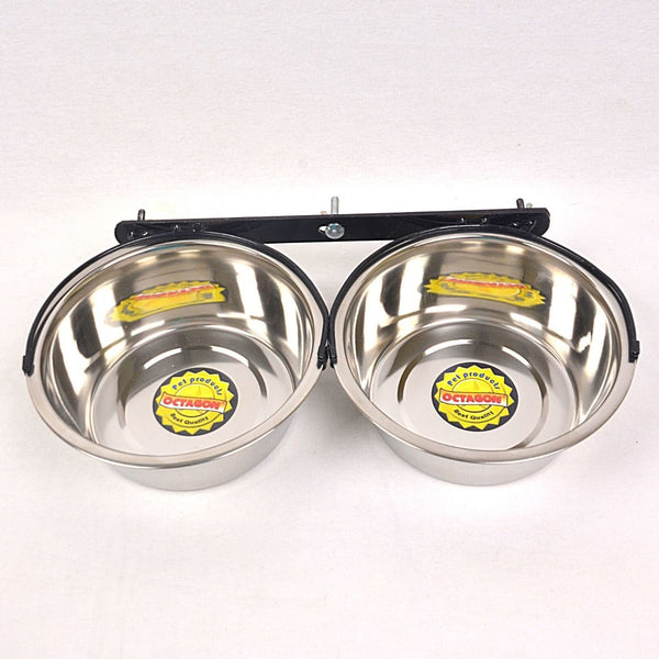 Double Bowl TER606 With Hanger Pet Bowl Octagon