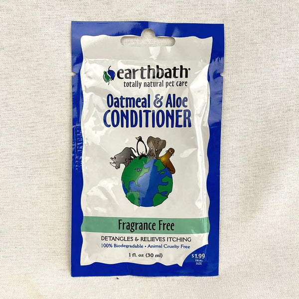 EARTHBATH Oatmeal And Aloe Conditioner Fragrance Free 30ml Grooming Shampoo and Conditioner Earth Bath