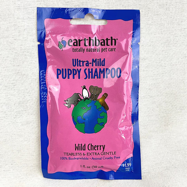 EARTHBATH Puppy Shampoo Tearless Extra Mild Sweet Cherry Essence 30ml Grooming Shampoo and Conditioner Earth Bath