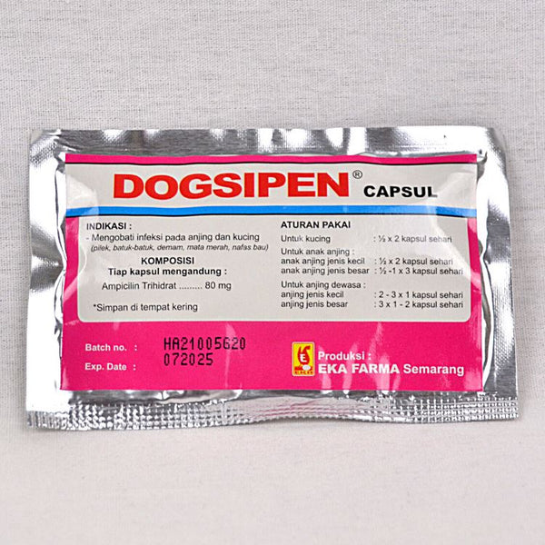 EKAFARMA DOGSIPEN 10 Capsul Pet Medicated Care Ekafarma