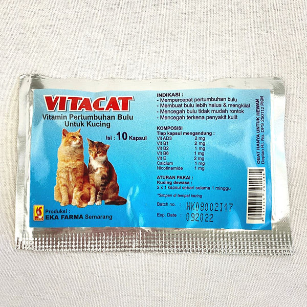 EKAFARMA Vitacat 10caps Pet Medicated Care Ekafarma