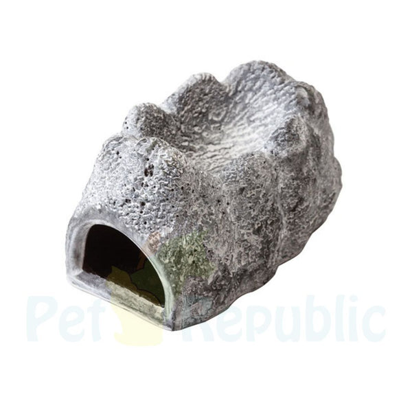 EXOTERRA Wet Rock Moisture Retaining Ceramic Cave Large - Pet Republic Jakarta