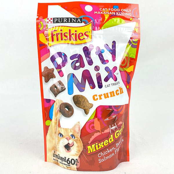 FRISKIES Party Mix Cat Treat Mixed Grilled 60gr Cat Snack Friskies