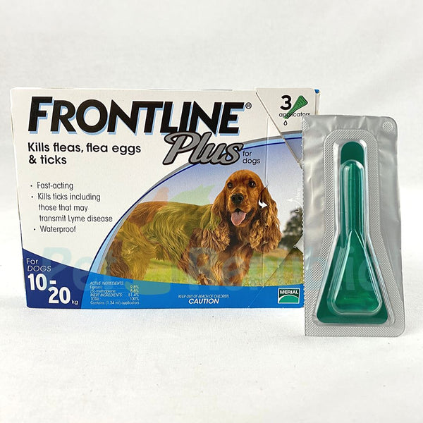 Frontline Plus Spot On Dog 10-20kg Grooming Pet Care Frontline