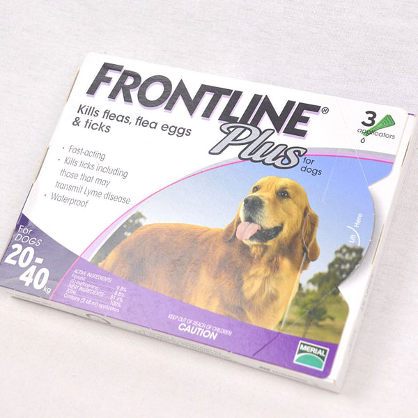 FRONTLINE Plus Spot On Dog 20-40kg Grooming Pet Care Frontline