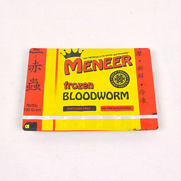 Frozen BloodWorm Meneer 100g Fish Food Meneer