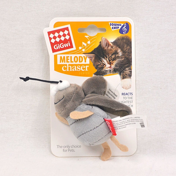 GIGWI Cricket Melody Chaser With Activated Sound Chip Cat Toy Gigwi