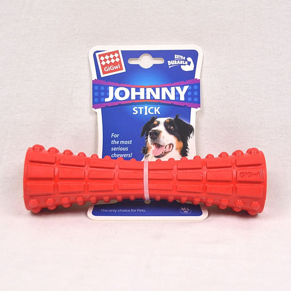 GIGWI Johnny Stick Extra Durable Solid Rubber Red Dog Toy Gigwi