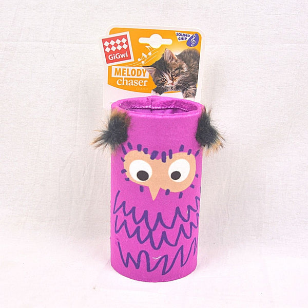 GIGWI Owl Melody Chaser Tube With Sound Chip Cat Toy Gigwi