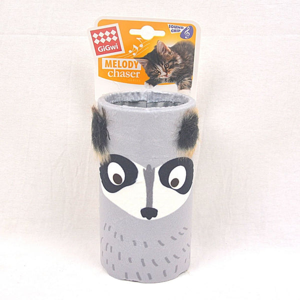 GIGWI Racoon Melody Chaser Tube With Sound Chip Cat Toy Gigwi