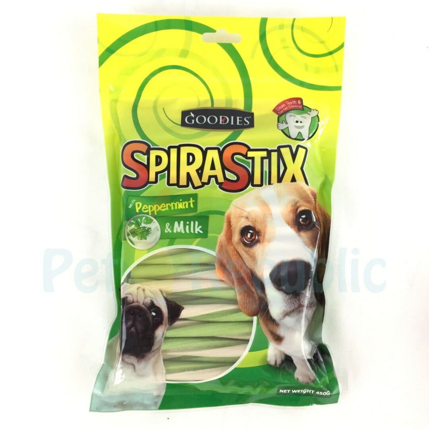 GOODIES SpiraStix Peppermint and Milk 450gr - Pet Republic Jakarta