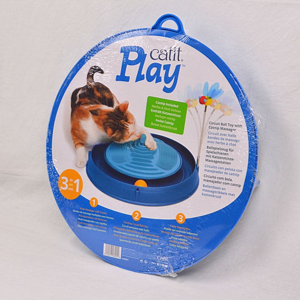 HAGEN CATIT Play Circuit Ball With Catnip Massager Cat Toy Cat It