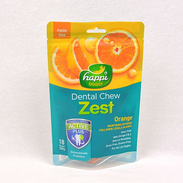 HAPPIDOGGY Dental Chew ZEST Petite Orange 150gr Dog Dental Chew Happi Doggy