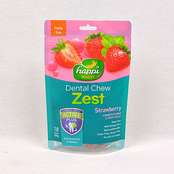 HAPPIDOGGY Dental Chew ZEST Petite Strawberry 150gr Dog Dental Chew Happi Doggy
