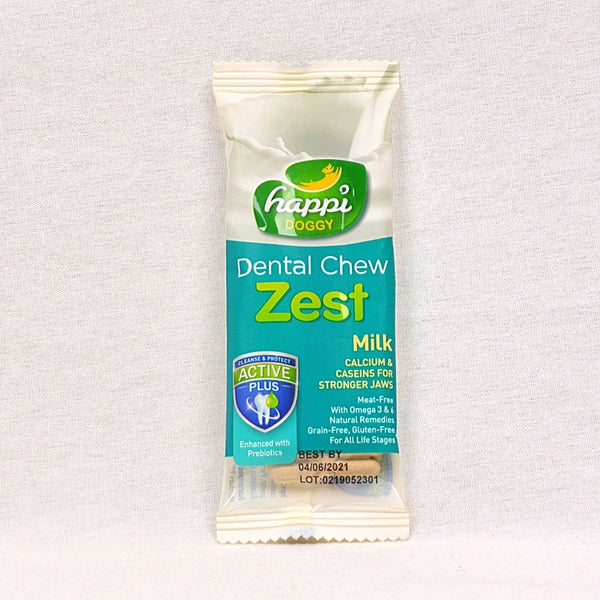 HAPPIDOGGY Zest Milk Regular 11gr Dog Dental Chew Happi Doggy