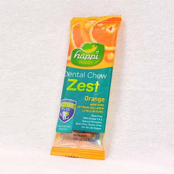 HAPPIDOGGY Zest Orange Regular 11gr Dog Dental Chew Happi Doggy