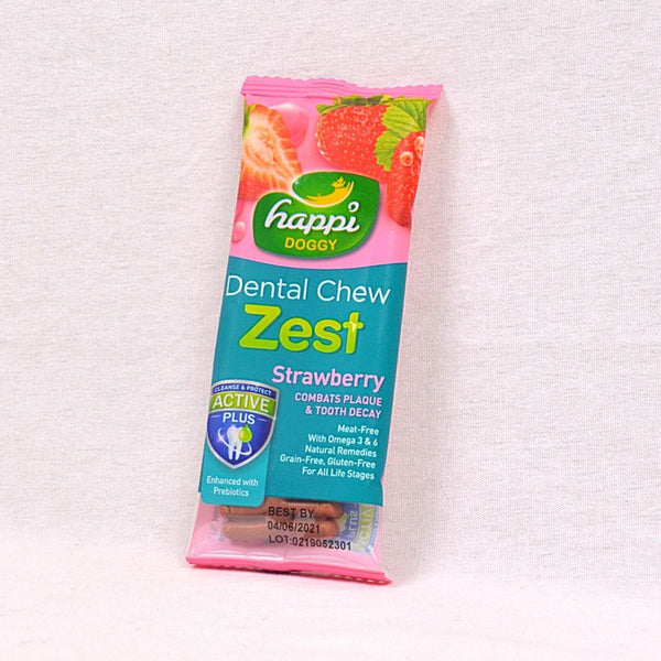 HAPPIDOGGY Zest Strawberry Regular 11gr Dog Dental Chew Happi Doggy