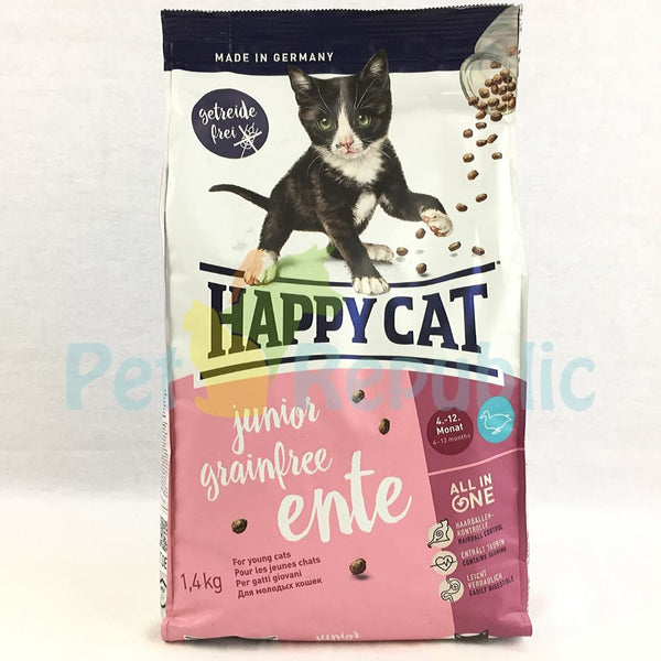 HAPPYCAT Junior Grainfree Duck (Ente) 1,4kg - Pet Republic Jakarta