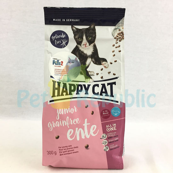HAPPYCAT Junior Grainfree Duck (Ente) 300gr - Pet Republic Jakarta