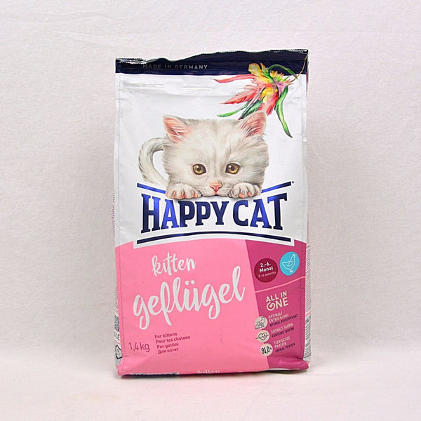 HAPPYCAT Kitten Poultry (Geflugel) 1,4kg Cat Dry Food Happy Pet