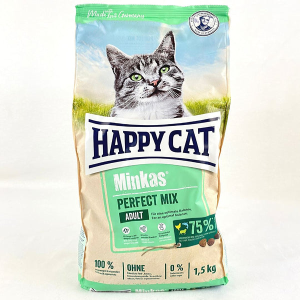 HAPPYCAT Minkas Perfect Mix 1.5KG Cat Dry Food Happy Cat