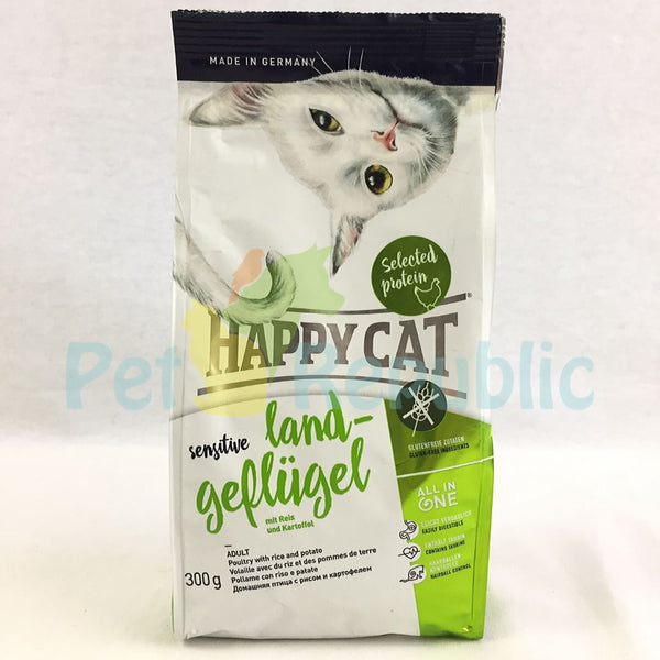 HAPPYCAT Sensitive Organic Poultry 300gr - Pet Republic Jakarta