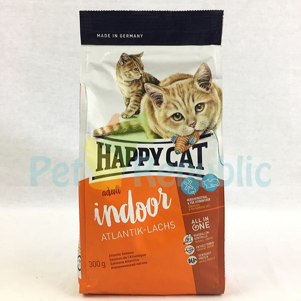 HAPPYCAT Supreme Indoor Atlantic Salmon (Atlantik Lachs)300g - Pet Republic Jakarta