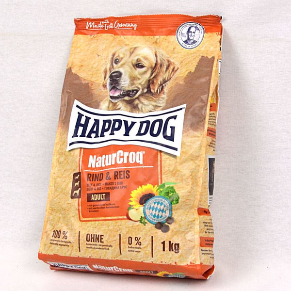 HAPPYDOG NaturCroq Adult Beef and Rice Dog Food Dry Happy Dog 1kg