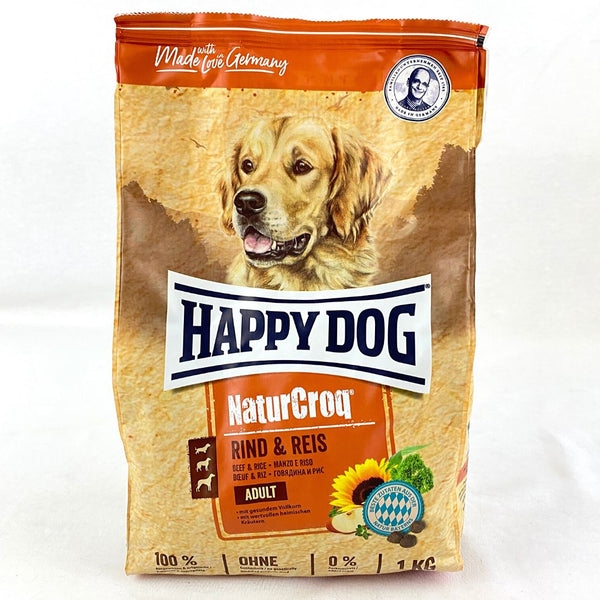 HAPPYDOG NaturCroq Adult Beef and Rice Dog Food Dry Happy Dog