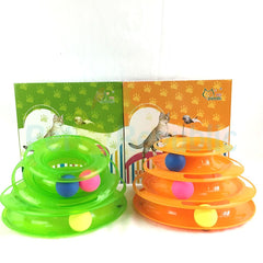 HARRY CTO788 Yaya  Cat Toy Happy Circle With Ball - Pet Republic Jakarta