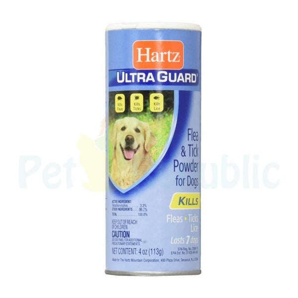 HARTZ 2 in 1 Flea and Tick Powder for Dog 113gr - Pet Republic Jakarta
