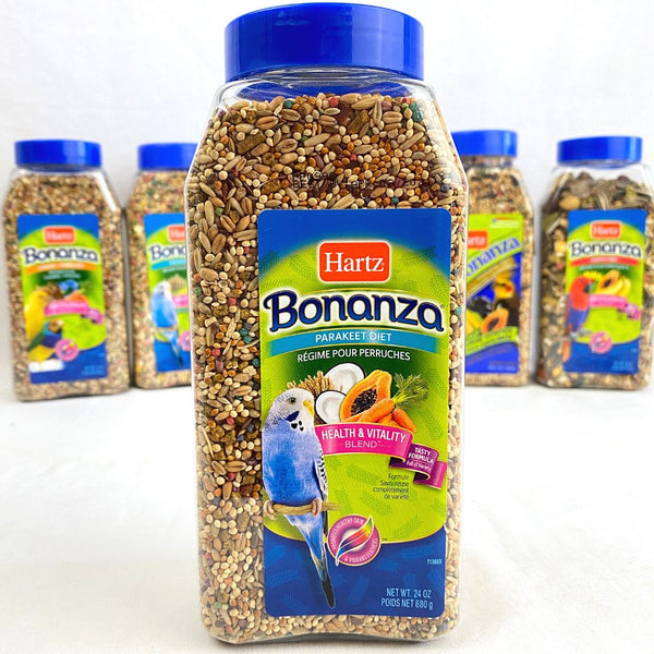 HARTZ Bonanza Tropical Fruit Parakeet 680gr Bird Food Hartz
