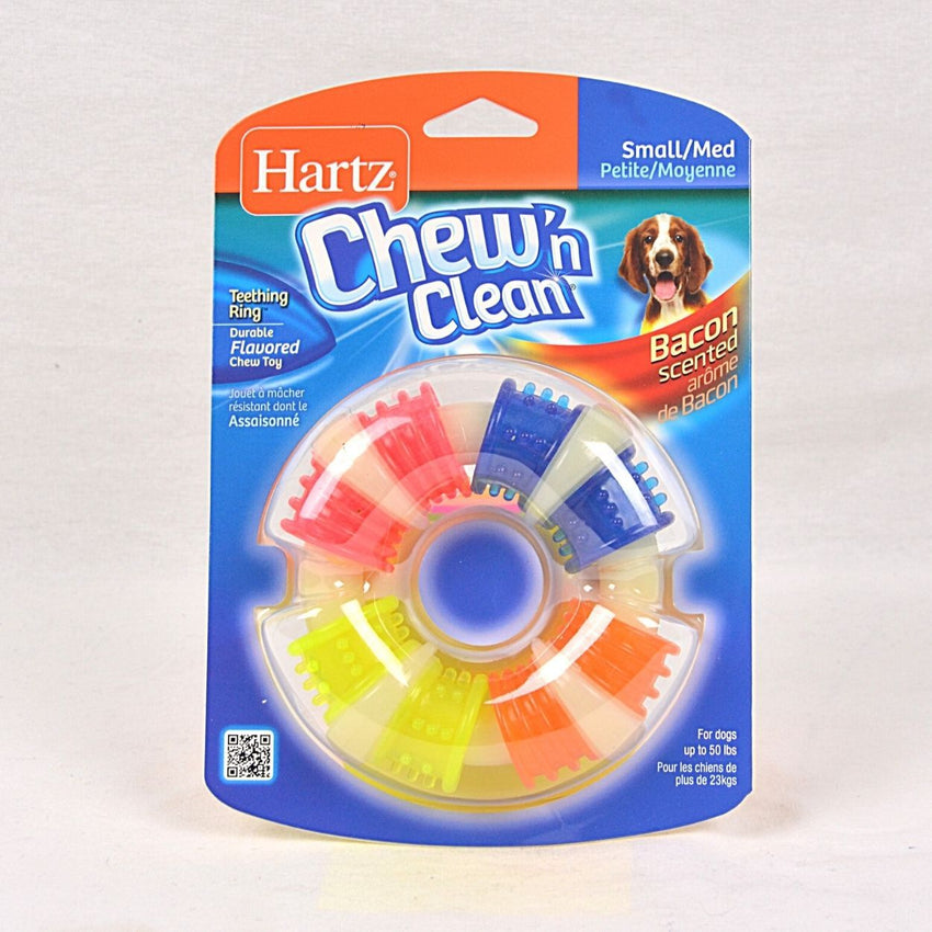 HARTZ Chewn Clean Teething Ring Dog Toy Hartz