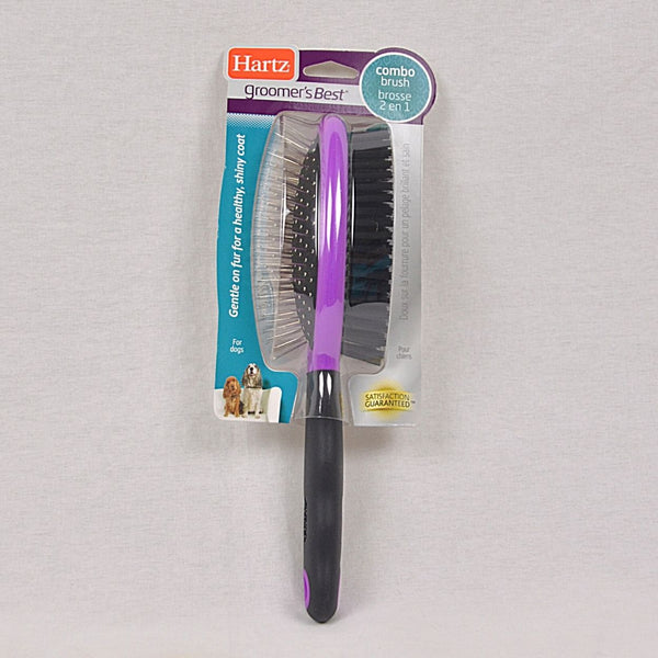 HARTZ Groomer`s Best Combo Brush Medium Large Grooming Tools Hartz