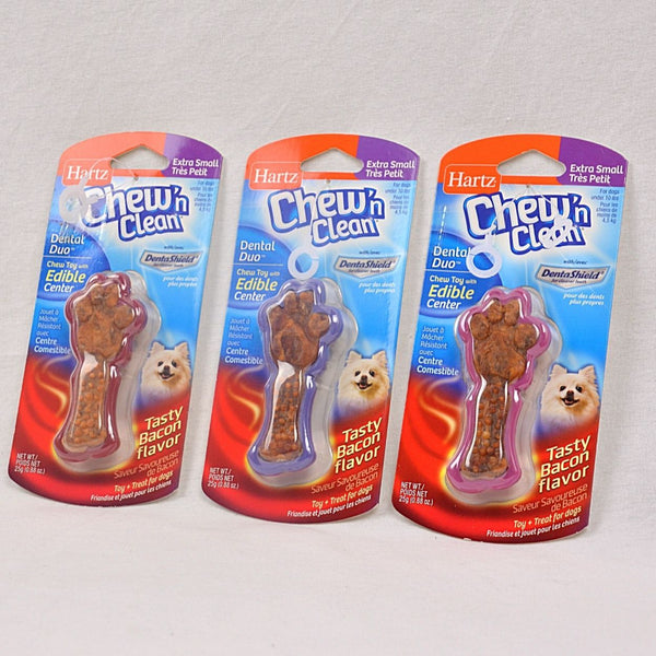 Hartz Tiny dog Bacon Dental Duo 25gr Dog Dental Chew Hartz