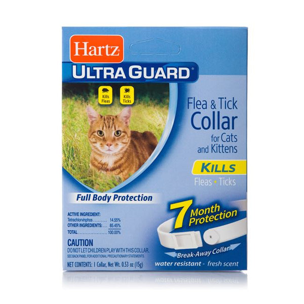 HARTZ Ultraguard Flea and Tick Collar For Cat - White - Pet Republic Jakarta