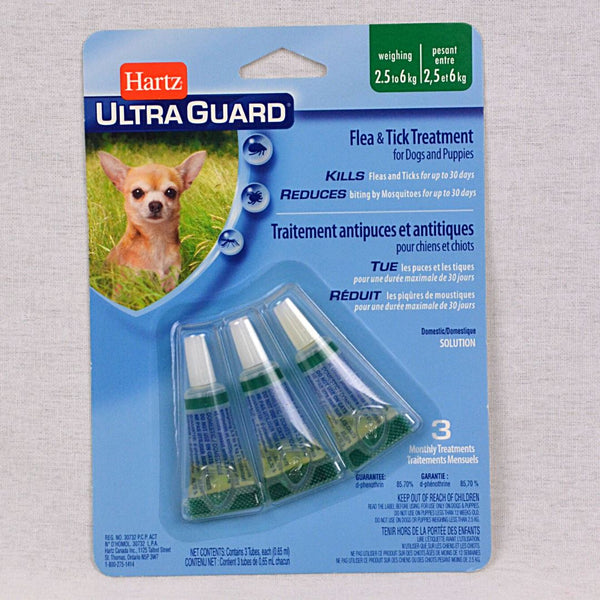 HARTZ Ultraguard Flea and Tick Drops Dog 4-15lbs Grooming Medicated Care Hartz