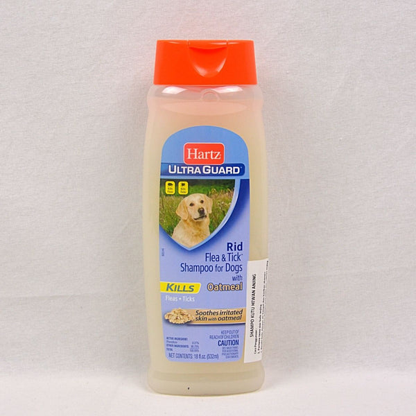 HARTZ Ultraguard Rid Flea and Tick Shampoo with Oatmeal 532ml Grooming Medicated Care Hartz