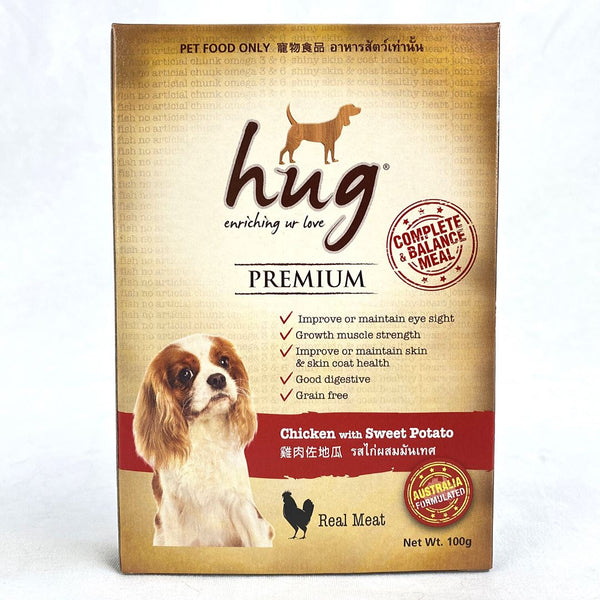 HUG Premium Pouch with Chicken with Sweet Potato 100gr Dog Food Wet Hug