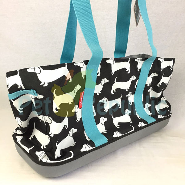 IBIYAYA FC1671 Sausage Dog Daily Tote Black Sesame - Pet Republic Jakarta