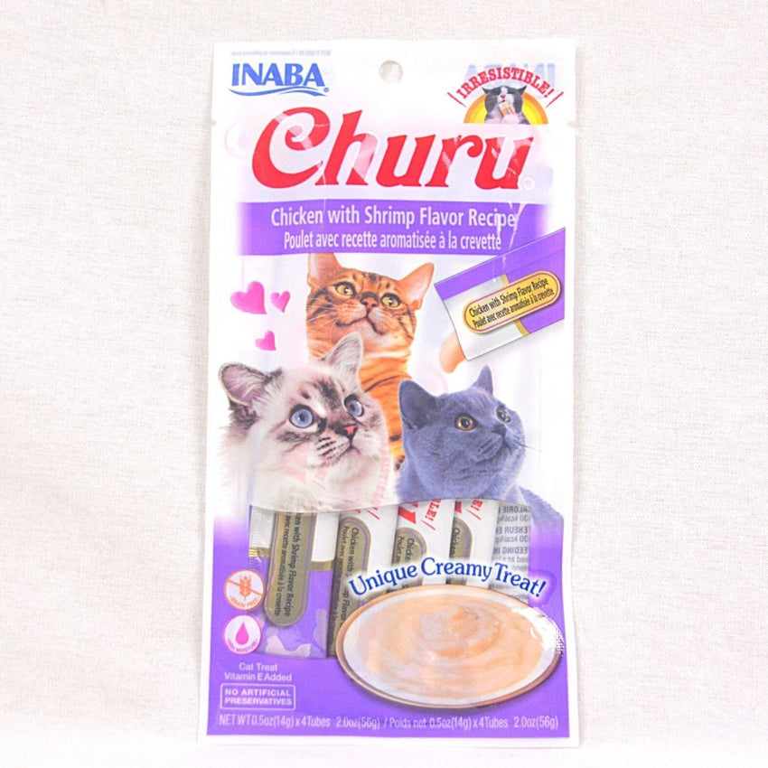 INABA Churu Chicken With Shrimp Flavour Recipe 4pcs Cat Snack Inaba