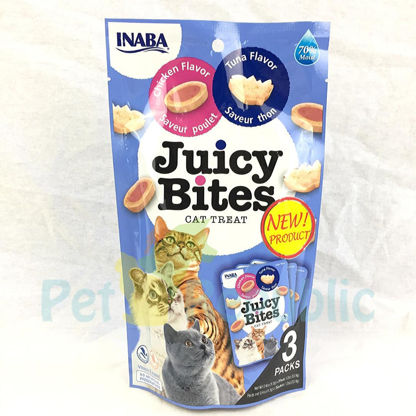 INABA USA701A Juicy Bites Tuna and Chicken 3pcs - Pet Republic Jakarta