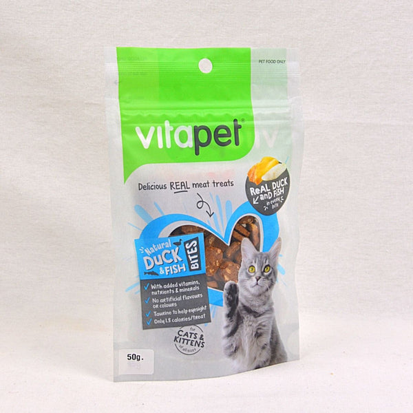 JERHIGH Vitapet Cat Snack Duck and Fish Bites 85gr Cat Snack Jerhigh