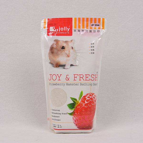 JOLLY Hamster Bathing Sand 1kg Small Animal Grooming Jolly Strawberry