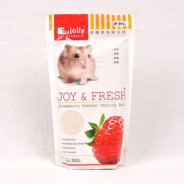 JOLLY Hamster Bathing Sand 500g Small Animal Grooming Jolly Strawberry
