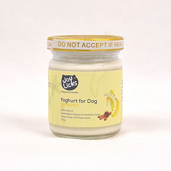 JOYLICKS Yoghurt For Dog Moonlight Banana Cinnamon Frozen Food Joy Licks 100g